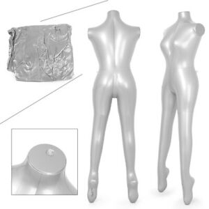 Female Inflatable Model Dummy Torso Body Mannequin Armless Display Fashion New