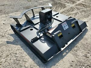 New 78 Inch Rotary Mower Brush Hog Cutter Skid Steer Loader Attachment