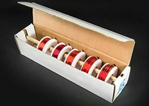 Assorted Gauges Magnet Wire Kit Enamel Coated Copper Wire 5 Spools 22 24