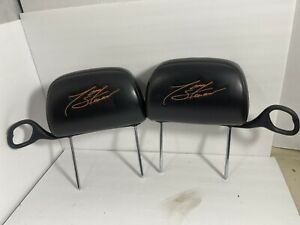 00 05 Chevy Monte Carlo Tony Stewart Headrests Embroidered Ss Nascar Rare Oem