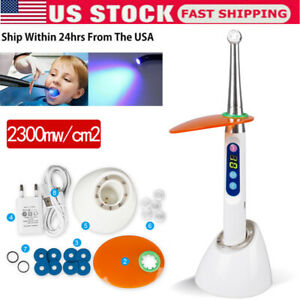 Dental Cordless Led Curing Light 1 Second Resin Cure Lamp 2300mw Cm2 Device Usa