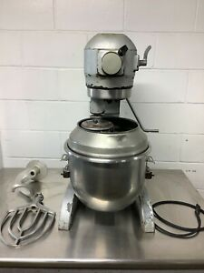 Hobart A 200 Mixer 20qt With Paddle Hook whisk bowl Extension 115v 1ph Tested