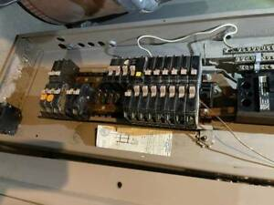 Electric Panel With Breakers