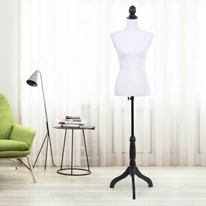 Mannequin Torso Dress Form Clothing Fabric Surface Display Rack With Tripodstand