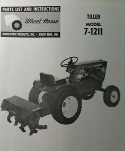 Wheel Horse Garden Tractor Rotary Tiller Implement 7 1211 Owner Parts Manual
