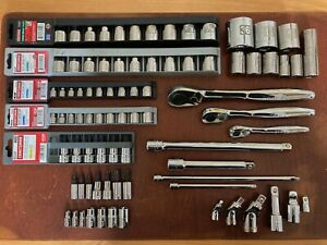 Lot Of 82 Craftsman Tools Ratchets Sockets Metric Sae Torx Hex Allen Made In Usa