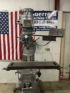 Bridgeport Milling Machine 42 Table And Dro
