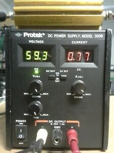 Protek 3006 Adjustable Lab Power Supply 0 To 60v 1 5 A Constant Current Mode 90w