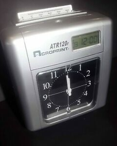 Acroprint Atr120r Electronic Top loading Time Recorder Time Clock parts Only