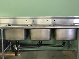 Eagle 3 Compartment Sink Stainless Steel 126