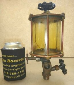 Essex Post Style Oiler No 6 Brass Oiler Old Steam Hit And Miss Gas Engine Nice