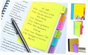 Divider Sticky Notes Tabbed Self stick Lined Note Pad 60 Ruled Notes 1 Pack