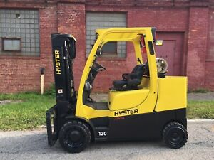 2017 Hyster 12000 Lb Forklift With Side Shift And 2 Stage Mast