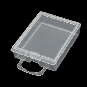 Clear Plastic Single Slot Electronic Components Storage Case Box 58x45x15mm