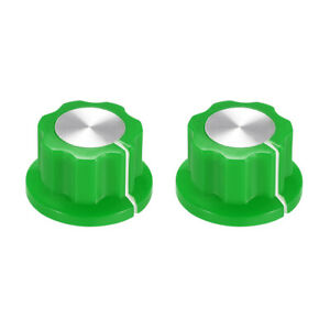 2pcs 6 4mm Shaft Hole Potentiometer Ontrol Rotary Knobs Effect Pedal Knobs Green