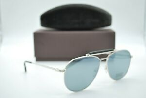 New Tom Ford Tf 536 16c Silver Authentic Frame Sunglasses 60 14
