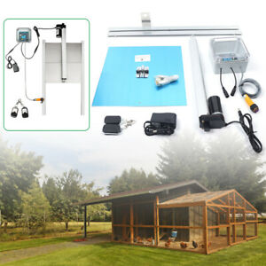 Automatic Chicken Coop Door Opener Poultry House Closer W timer infrared Sensor