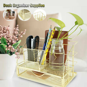 Desk Organiser Pencil Tray Tidy Pen Holder Stationery Container Storage Office S