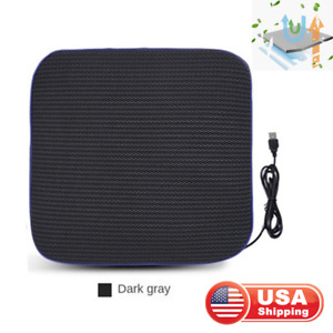 Universal Usb Car Seat Cooler Pad Cushion Cover 4 Built In Cooling Fan Dark Gray