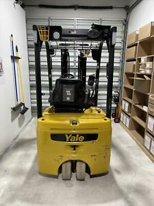 Yale Three Wheel Electric Forklift 2018 Model Good Hours Plumbed For Attachment