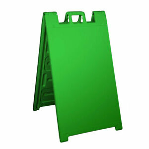 Plasticade Signicade Portable Folding Sidewalk Double Sided Sign Stand Green