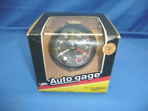 Vintage 1980s Day 2 Nos Auto Gage Shift Lite 8k Tachometer 2302 Made In Usa Ct3