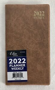 2022 Weekly Pocket Planner Agenda Calendar Appointment Book Saddle Tan 3 5x6 25