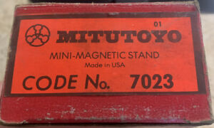Mitutoyo Mini Magnetic Stand 7023 Machinist Dial Indicator Mag In Box Usa
