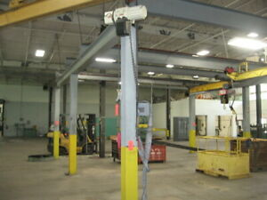 For Sale Two Bay Free Standing Work Station Crane Two 3 Ton Chain Hoist