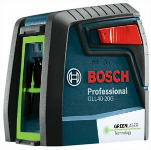 Bosch Gll40 20g Green Beam Self Leveling Cross Line Laser Level With Mm2 Mount