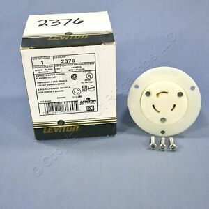 New Leviton L11 20 Locking Flanged Outlet Receptacle L11 20r 20a 250v 3 2376