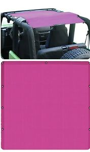 Jeep Wrangler Tj Yj 97 06 Full Sun Shade Pink Fits Under Hard Soft Top New