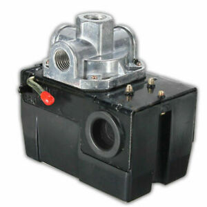 Heavy Duty Pressure Switch For Air Compressor 95 125 Psi Four 4 Port 26 Amp