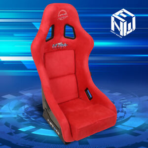 Nrg Frp 303rd Ultra Prisma Medium Size 20 Lbs Ultra Bucket Racing Seat Red Suede