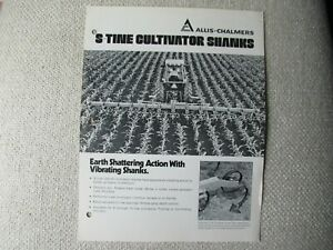 Allis chalmers S tine Cultivator Shanks Specification Sheet Brochure