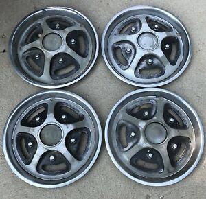 Early 70s Ford Truck 15 Oem Mag Style Hubcaps Set 69 70 71 72 73
