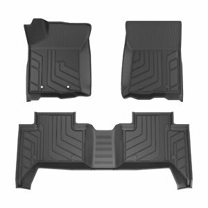 All Weather Rubber Seat Tpe Floor Mats For 16 21 Toyota Tacoma Double Crew Cab