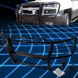 For 02 06 Chevy Avalanche 1500 Black Bumper Grill Protector Grille Brush Guard