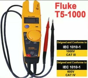 New Fluke T5 1000 1000 Voltage Current Electrical Tester W Pouch