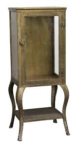 Antique Medical Cabinet With Cabriole Legs