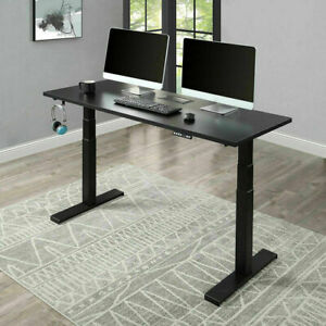 Electric Standing Desk Height Adjustable Home Office Computer Table Dual Motor