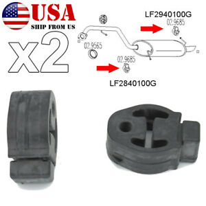Car Rubber Exhaust Tail Pipe Mount Bracket Hanger Insulator Mufflers For Ford Us