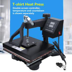 T shirt Heat Press Clamshell Design Digital Timer Control Save Space For