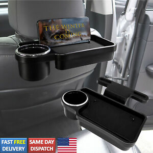 Universal Cup Holder Phone Mount Car Back Seat Organizer Storage Tray Table