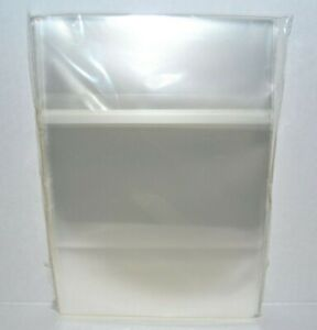 100 Cd Dvd Cases 14mm Cellophane Plastic Bags Sleeves Sony Playstation 2 Ps2