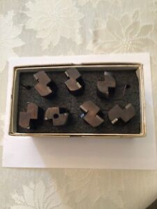 Valenite Set Of 7 Indexable End Mill Cutters Excellent