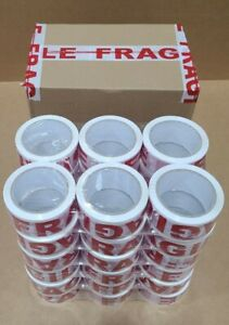 36 Rolls Fragile Heavy Duty Packing Tape 2 7 Mil 2 X 60 Yards