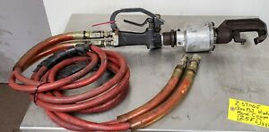 Pneumatic C yoke Riveter Squeezer 2 way With Hose Not Tested z5fl