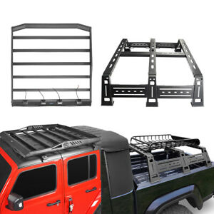 Steel High Bed Rack Roof Rack Truck Cargo Storage Fit Jeep Gladiator Jt 20 21