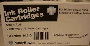 2 pack Ink Cartridges For Pitney Bowes 6900 Postage Meter new